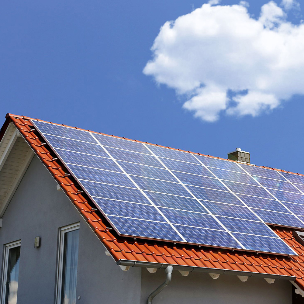 Solardach Haus